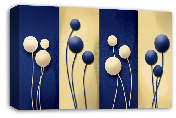 Abstract single balloons Canvas Wall Art