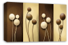 Cream Brown abstract floral canvas wall art picture print multi panel