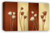 Bronze cream floral flowers canvas wall art picture print