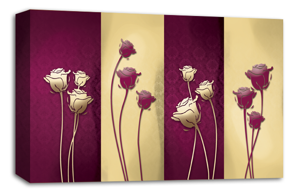 Floral Panel Canvas Wall Art