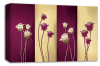 Purple cream floral flowers panel canvas wall art picture print