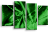 Green Grey Abstract canvas wall art multi panel