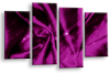 Plum Grey Abstract canvas wall art multi panel