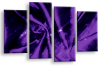 Purple Grey Abstract canvas wall art multi panel