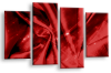 Red Grey Abstract canvas wall art multi panel