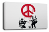 Banksy canvas wall art cnd soldiersl grey black white