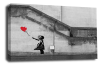 Banksy canvas wall art balloon girl grey black white