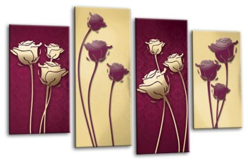 Pretty Plum Canvas Wall Art Gallery - Wall Art Design ...