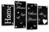 Black white grey Home quote canvas wall art picture print multi panel