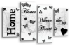 White black grey Home quote canvas wall art picture print multi panel