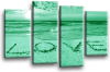Seascape, sunset beach 2 tone green love in the sand canvas wall art picture print