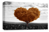 Gold Black White Love Heart Tree canvas wall art picture print