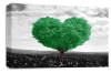 Green Black White Love Heart Tree canvas wall art picture print