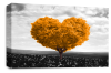 Orange Grey Black White Love Heart Tree canvas wall art picture print
