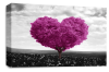 Plum Grey Black White Love Heart Tree canvas wall art picture print
