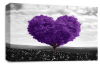 Purple Grey Black White Love Heart Tree canvas wall art picture print