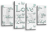 White Duck Egg grey love quote canvas wall art picture print multi panel