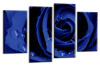 Blue Open rose canvas wall art picture print multi panel