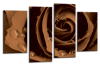 Brown Open rose canvas wall art picture print multi panel