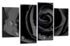 Grey Open rose canvas wall art picture print multi panel